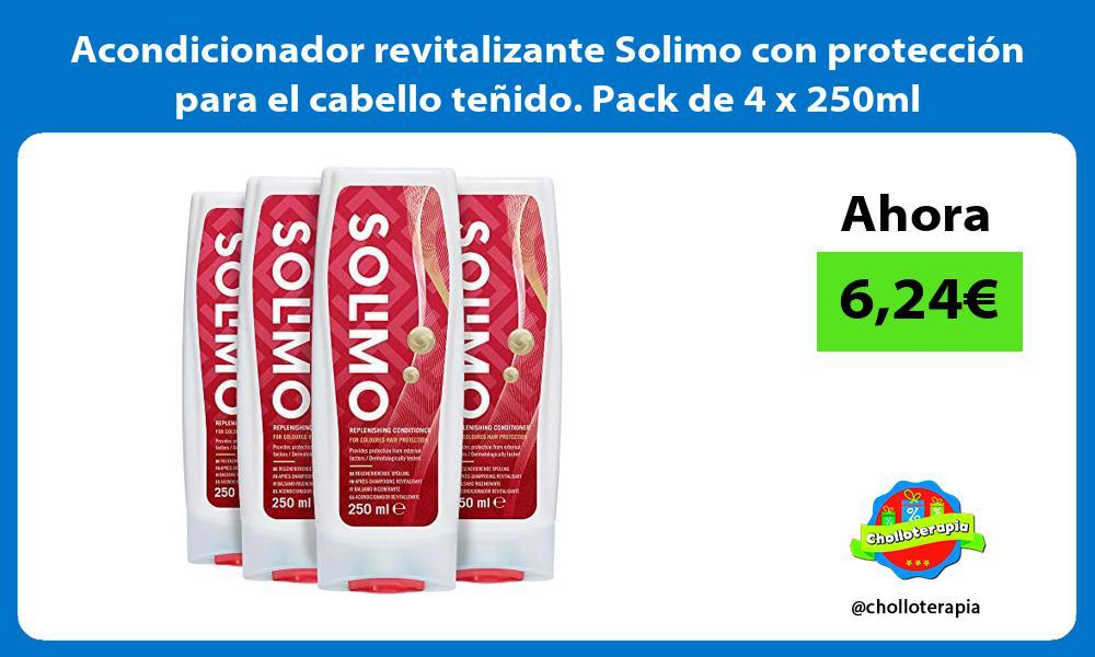 Acondicionador revitalizante Solimo con proteccion para el cabello tenido Pack de 4 x 250ml