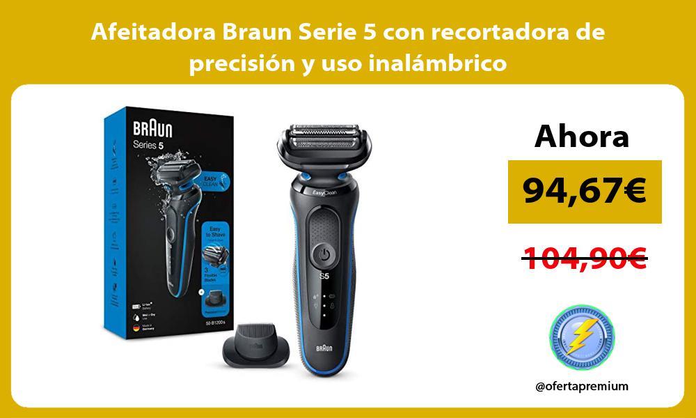 Afeitadora Braun Serie 5 con recortadora de precision y uso inalambrico