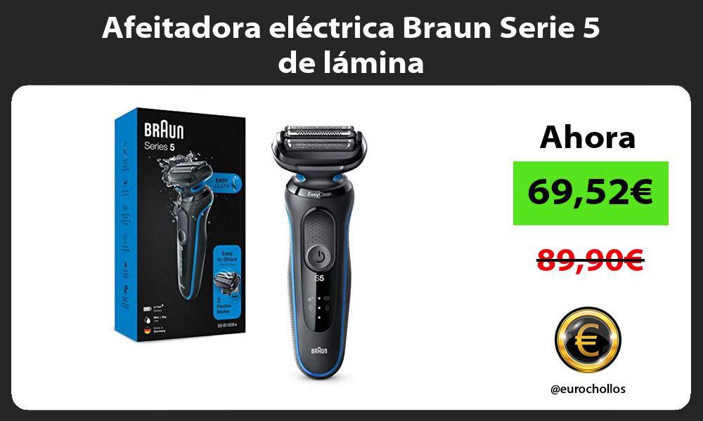 Afeitadora electrica Braun Serie 5 de lamina