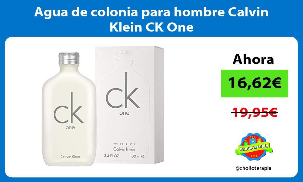 Agua de colonia para hombre Calvin Klein CK One