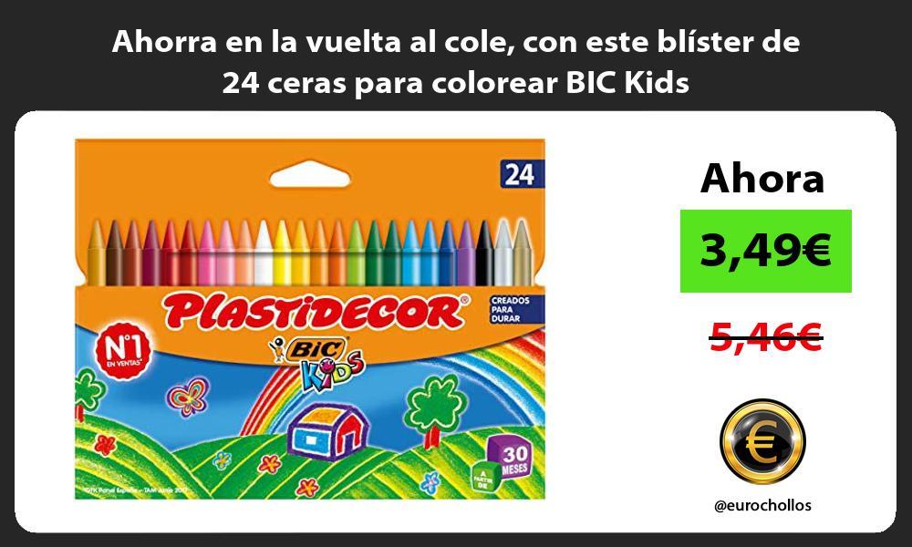 Ahorra en la vuelta al cole con este blister de 24 ceras para colorear BIC Kids