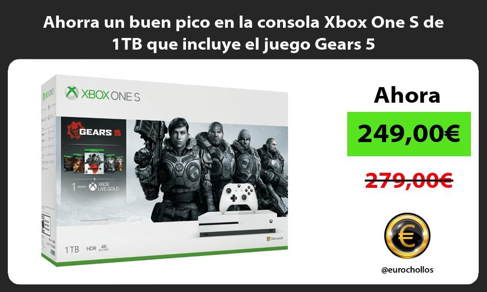 Ahorra un buen pico en la consola Xbox One S de 1TB que incluye el juego Gears 5