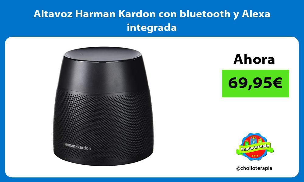 Altavoz Harman Kardon con bluetooth y Alexa integrada