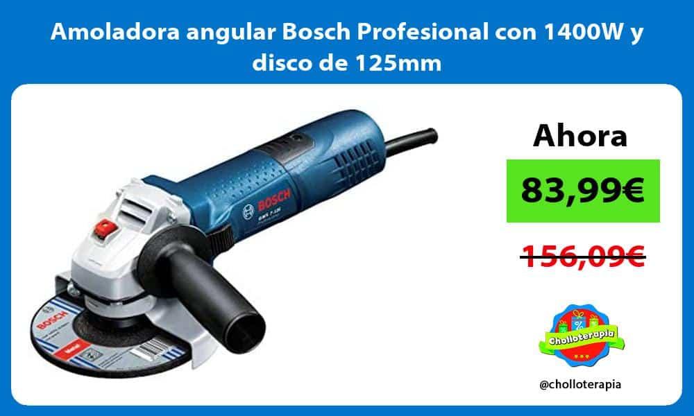 Amoladora angular Bosch Profesional con 1400W y disco de 125mm
