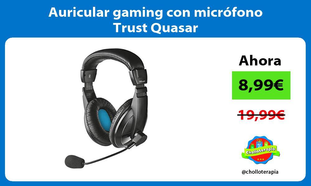 Auricular gaming con micrófono Trust Quasar