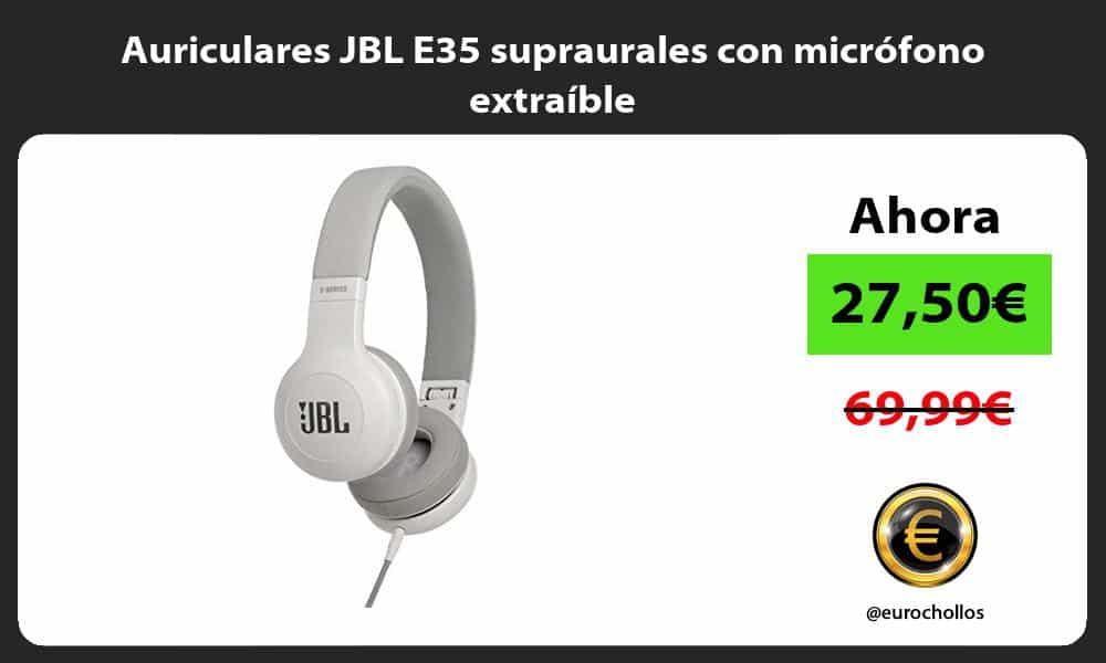 Auriculares JBL E35 supraurales con micrófono extraíble