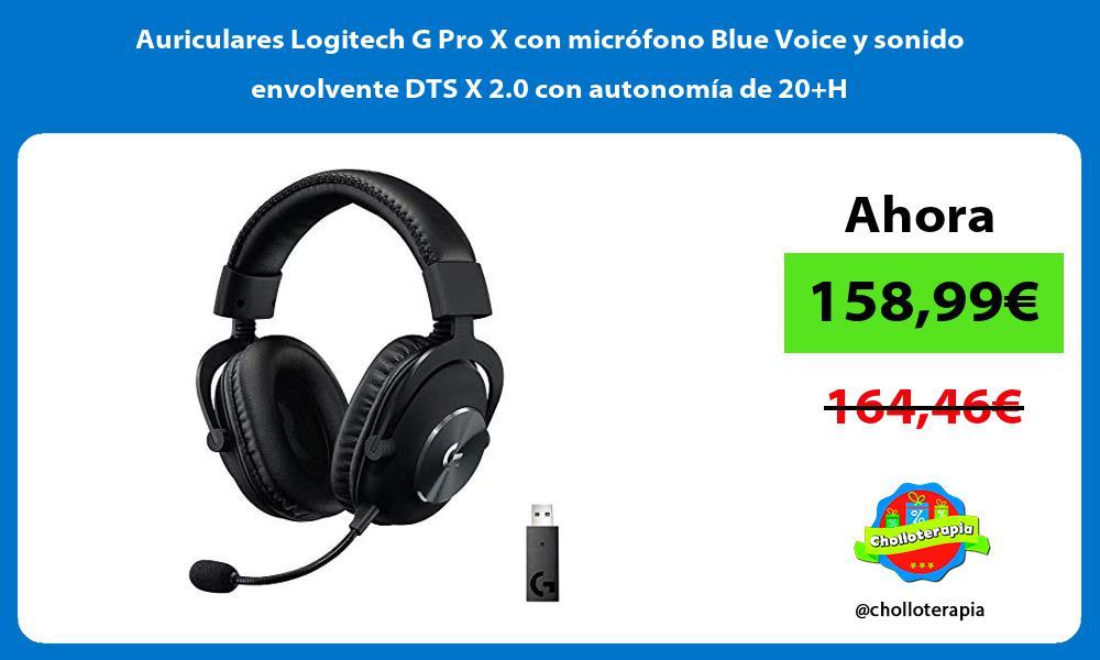 Auriculares Logitech G Pro X con microfono Blue Voice y sonido envolvente DTS X 2 0 con autonomia de 20H