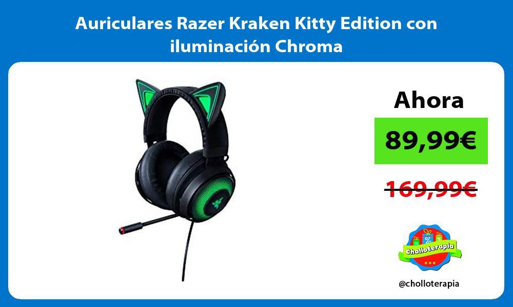 Auriculares Razer Kraken Kitty Edition con iluminación Chroma