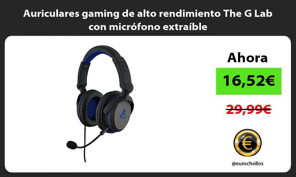 Auriculares gaming de alto rendimiento The G Lab con micrófono extraíble