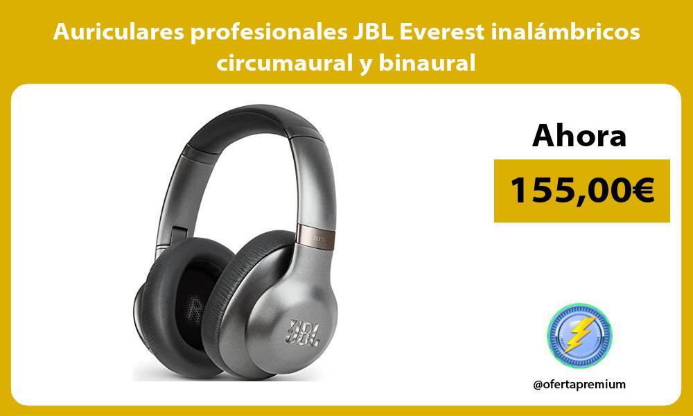 Auriculares profesionales JBL Everest inalámbricos circumaural y binaural