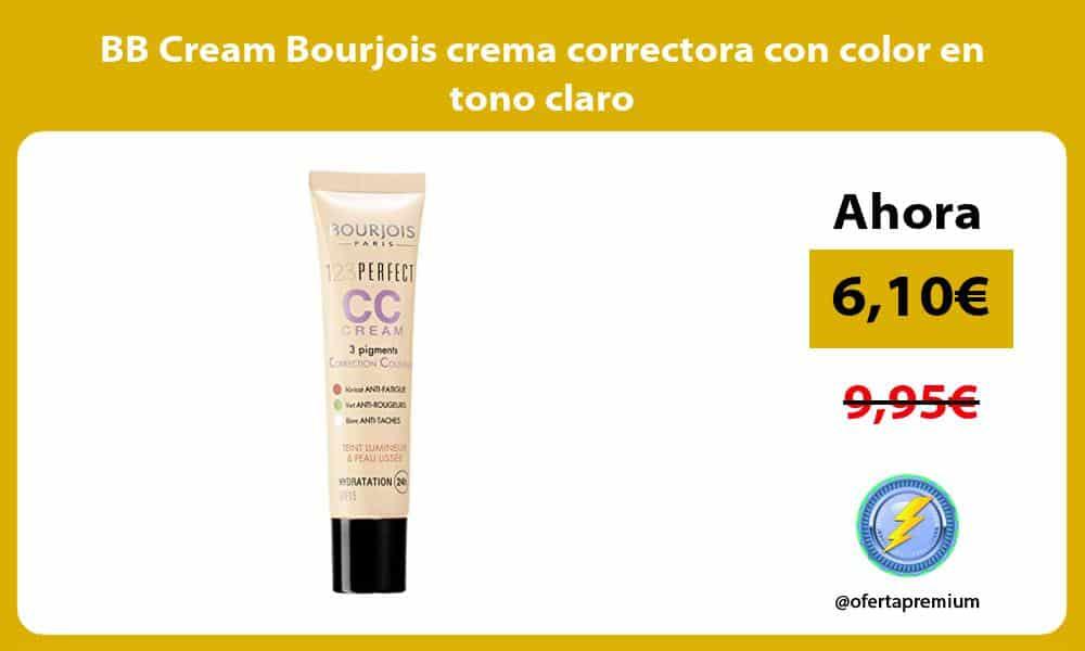 BB Cream Bourjois crema correctora con color en tono claro
