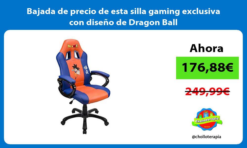 Bajada de precio de esta silla gaming exclusiva con diseno de Dragon Ball