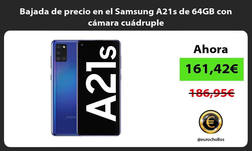 Bajada de precio en el Samsung A21s de 64GB con camara cuadruple