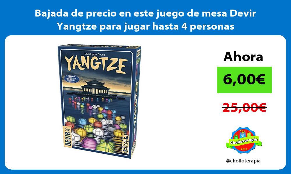 Bajada de precio en este juego de mesa Devir Yangtze para jugar hasta 4 personas