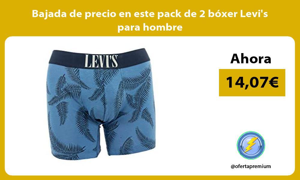 Bajada de precio en este pack de 2 boxer Levis para hombre