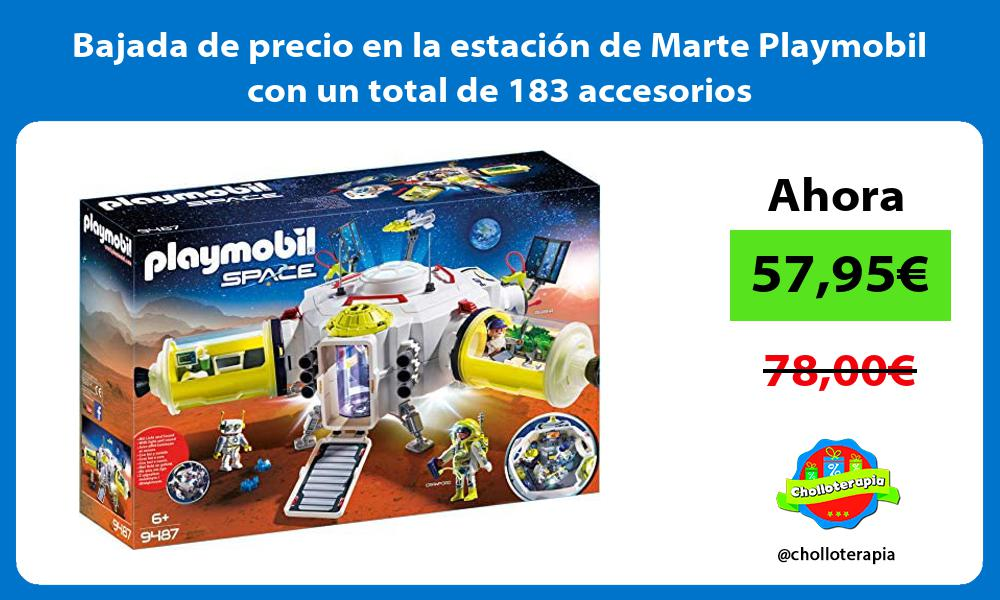 Bajada de precio en la estacion de Marte Playmobil con un total de 183 accesorios