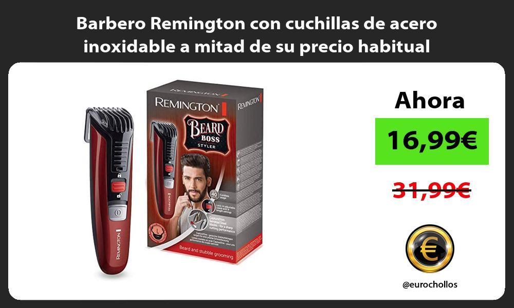 Barbero Remington con cuchillas de acero inoxidable a mitad de su precio habitual