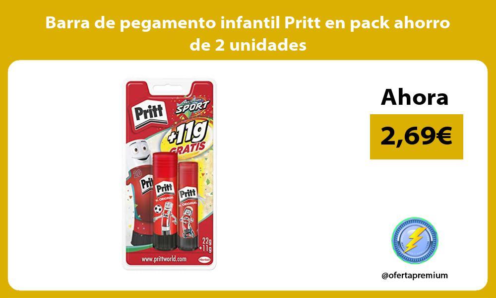 Barra de pegamento infantil Pritt en pack ahorro de 2 unidades