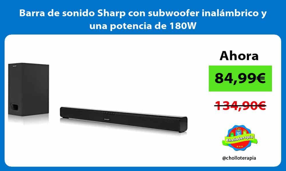 Barra de sonido Sharp con subwoofer inalámbrico y una potencia de 180W