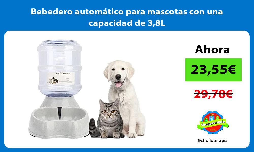 Bebedero automatico para mascotas con una capacidad de 38L