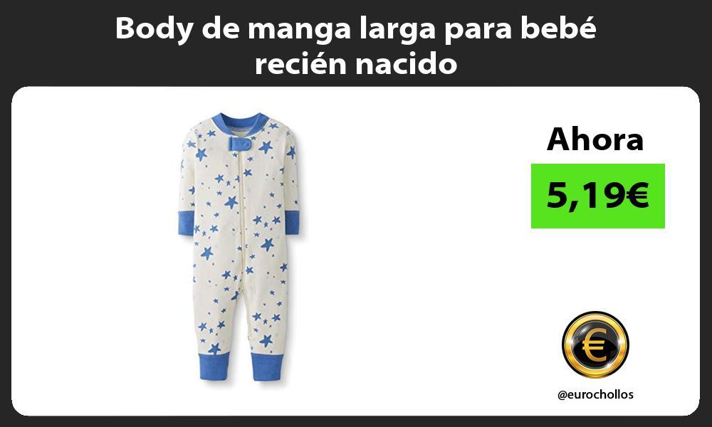 Body de manga larga para bebé recién nacido