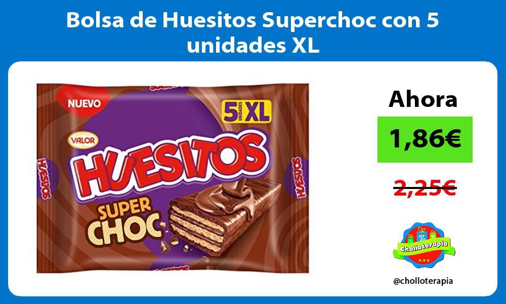 Bolsa de Huesitos Superchoc con 5 unidades XL