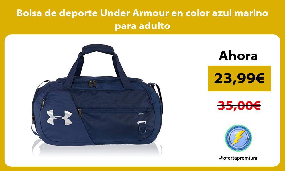 Bolsa de deporte Under Armour en color azul marino para adulto
