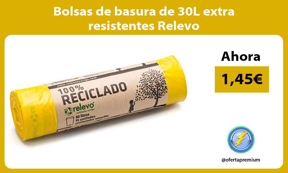 Bolsas de basura de 30L extra resistentes Relevo