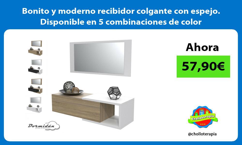 Bonito y moderno recibidor colgante con espejo Disponible en 5 combinaciones de color