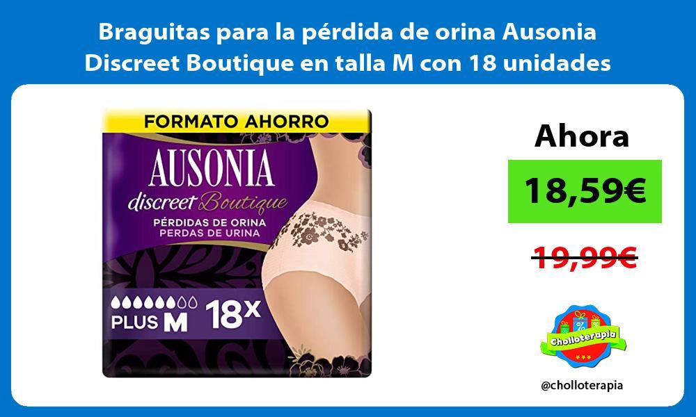 Braguitas para la perdida de orina Ausonia Discreet Boutique en talla M con 18 unidades