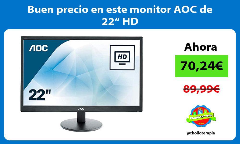 """Buen precio en este monitor AOC de 22"""" HD"""