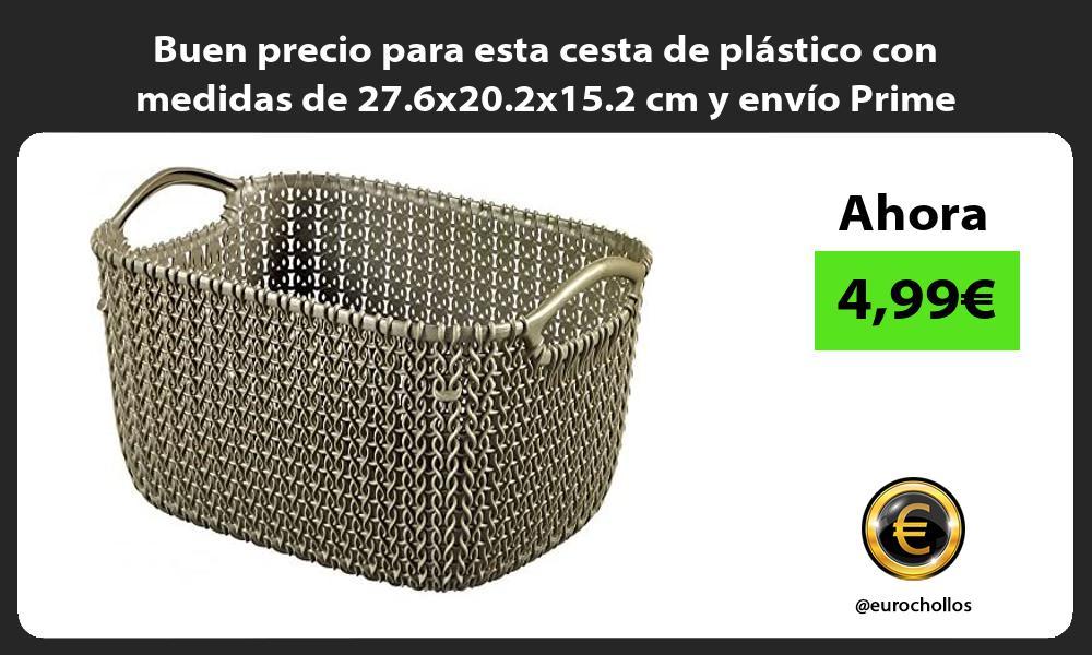 Buen precio para esta cesta de plastico con medidas de 27 6x20 2x15 2 cm y envio Prime