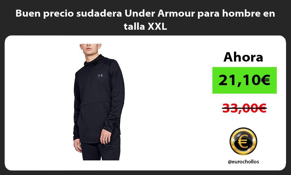 Buen precio sudadera Under Armour para hombre en talla XXL