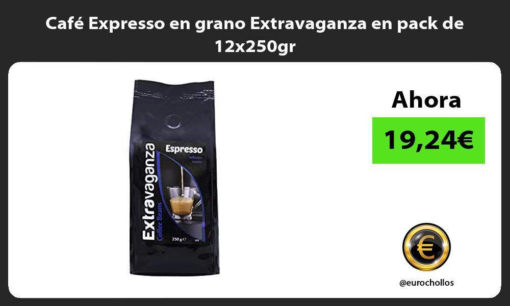 Cafe Expresso en grano Extravaganza en pack de 12x250gr