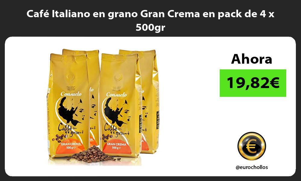 Cafe Italiano en grano Gran Crema en pack de 4 x 500gr