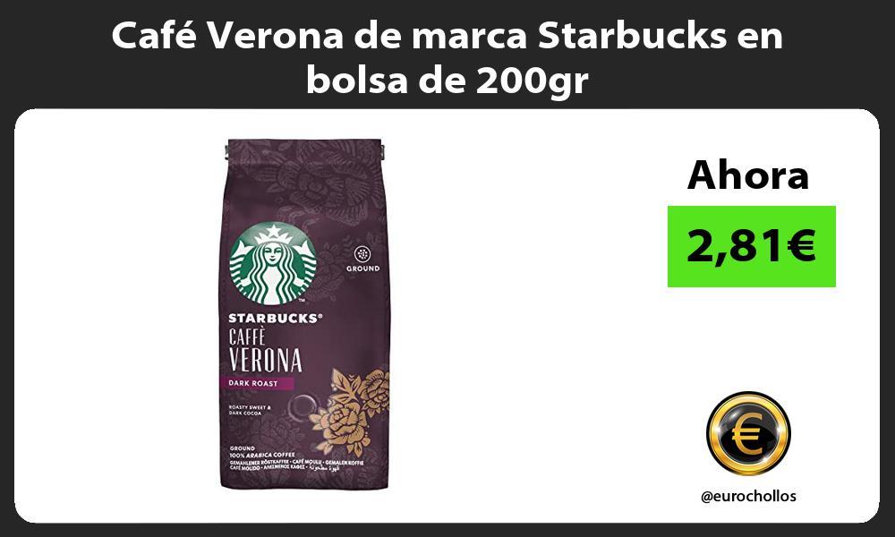 Cafe Verona de marca Starbucks en bolsa de 200gr