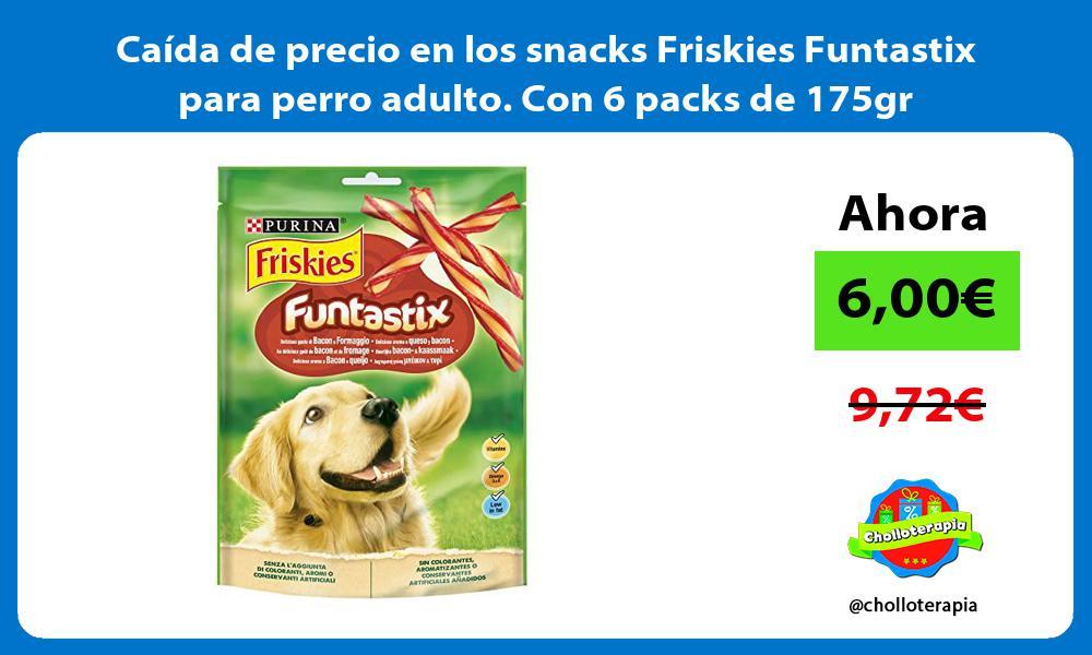 Caida de precio en los snacks Friskies Funtastix para perro adulto Con 6 packs de 175gr