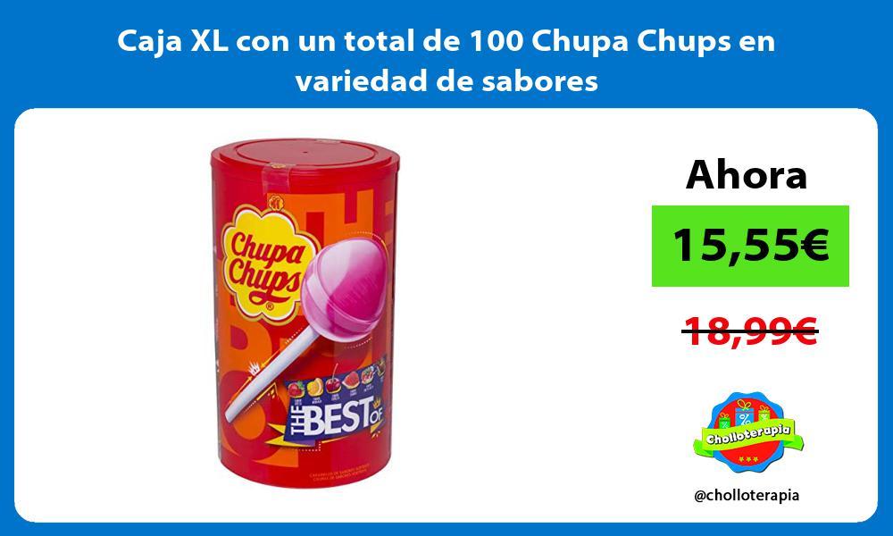Caja XL con un total de 100 Chupa Chups en variedad de sabores