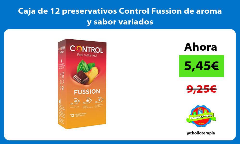 Caja de 12 preservativos Control Fussion de aroma y sabor variados