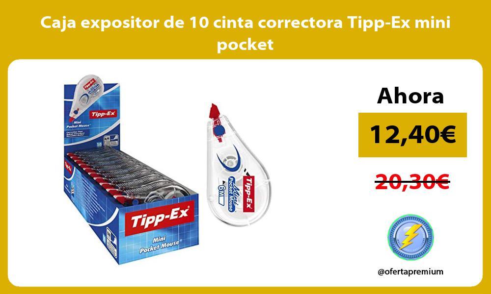 Caja expositor de 10 cinta correctora Tipp Ex mini pocket