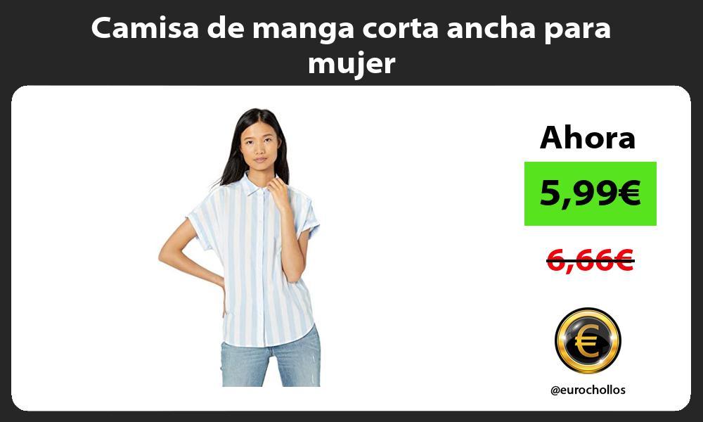 Camisa de manga corta ancha para mujer