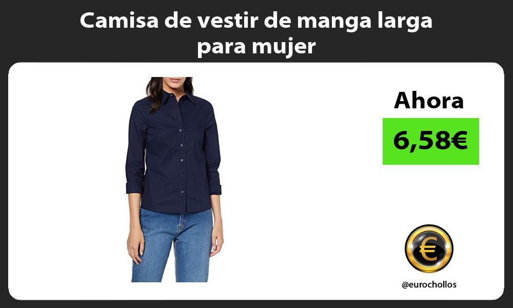 Camisa de vestir de manga larga para mujer