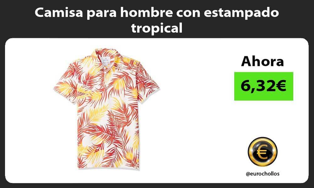 Camisa para hombre con estampado tropical