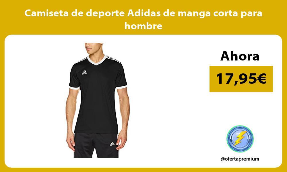 Camiseta de deporte Adidas de manga corta para hombre