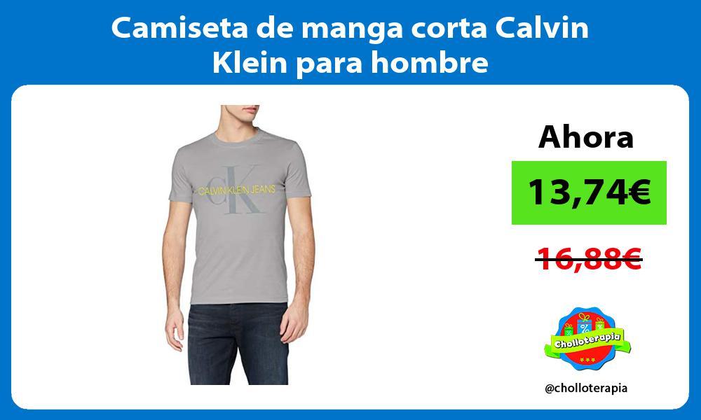 Camiseta de manga corta Calvin Klein para hombre