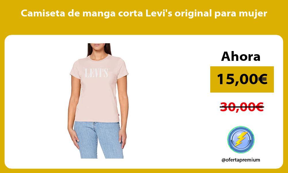 Camiseta de manga corta Levis original para mujer