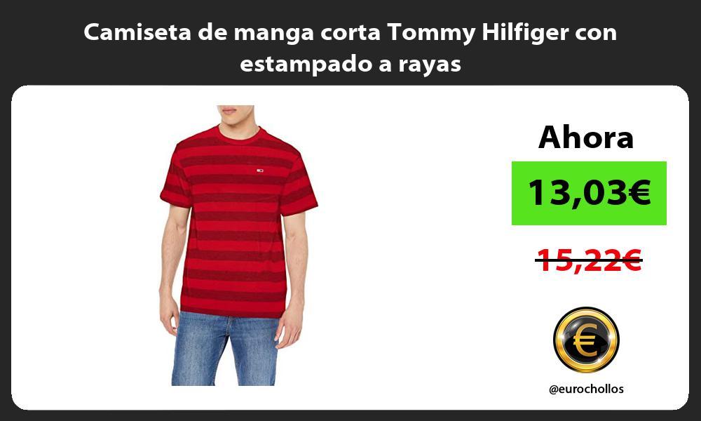 Camiseta de manga corta Tommy Hilfiger con estampado a rayas