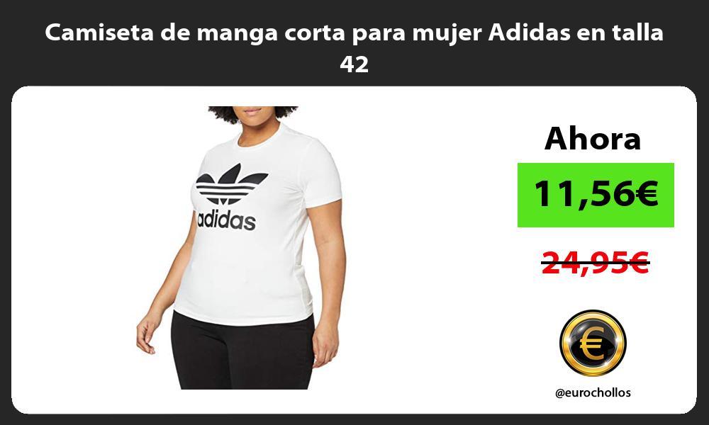 Camiseta de manga corta para mujer Adidas en talla 42