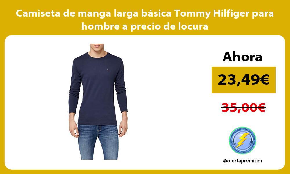 Camiseta de manga larga basica Tommy Hilfiger para hombre a precio de locura