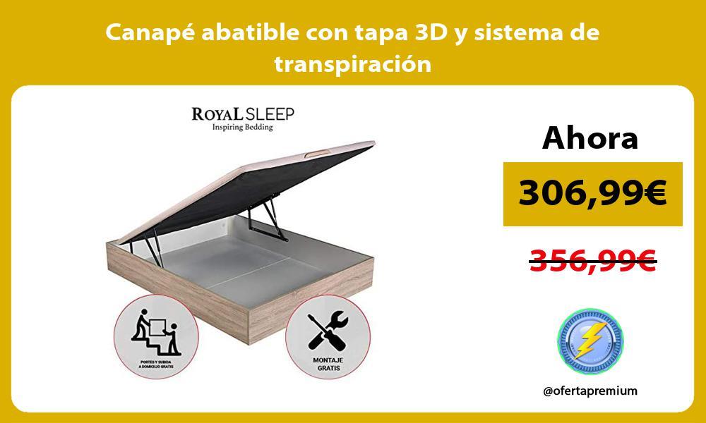 Canape abatible con tapa 3D y sistema de transpiracion